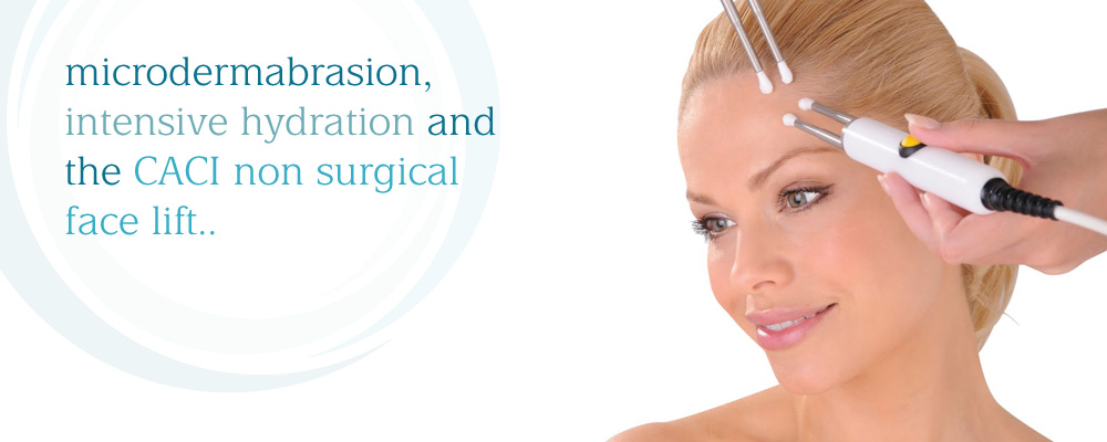 microdermabrasion intensive hydration and the caci non-surgical face lift